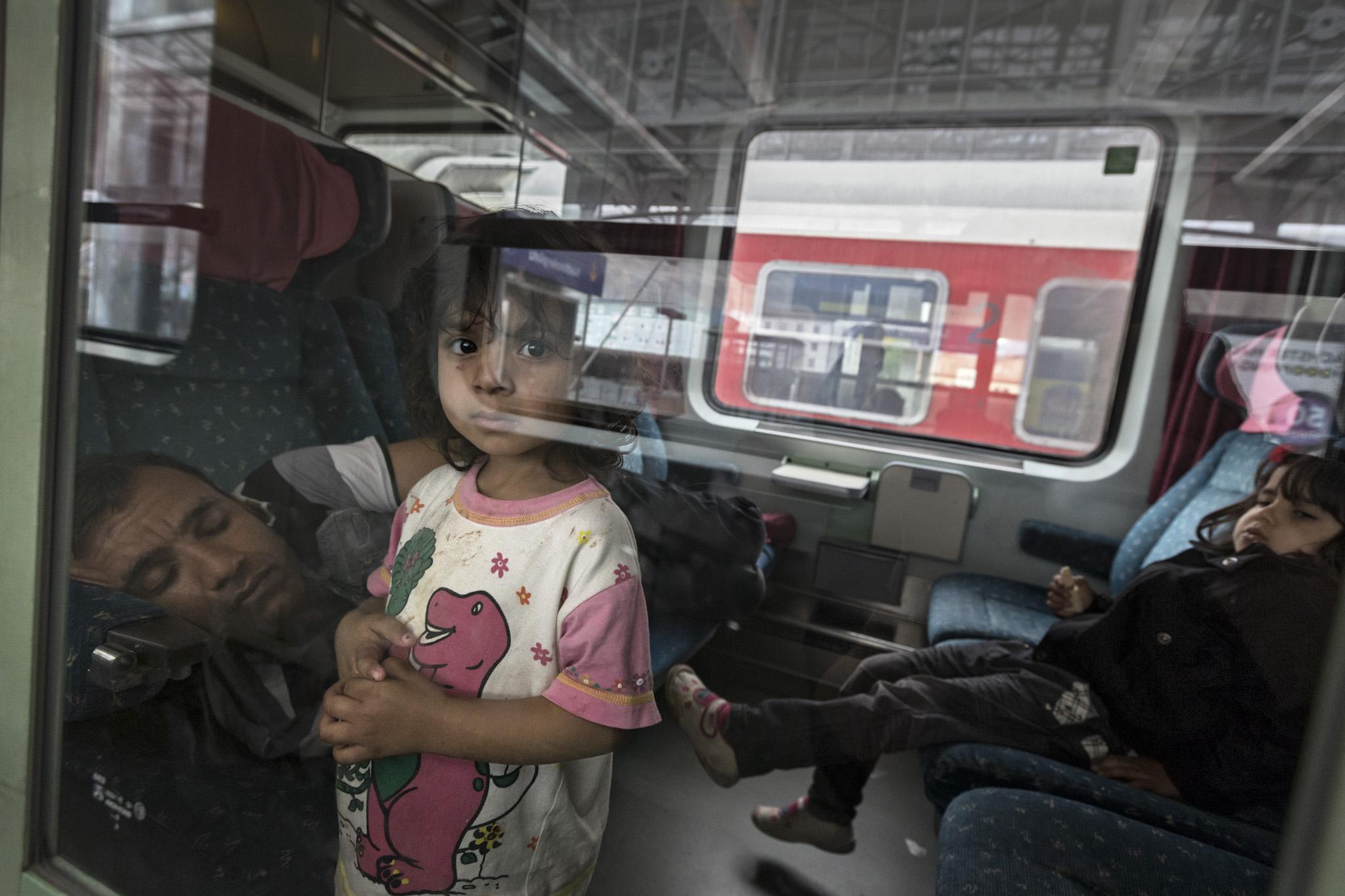 afghanische Flüchtlingsfamilie