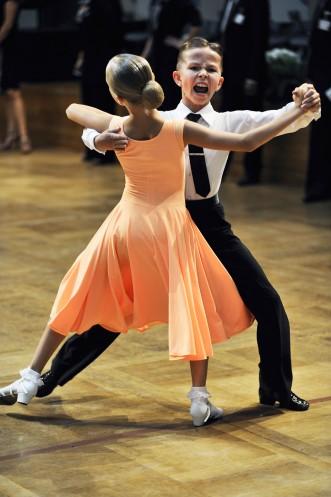 Champion ballroom dancers