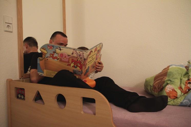 Vorlesezeit vor dem Insbettgehen