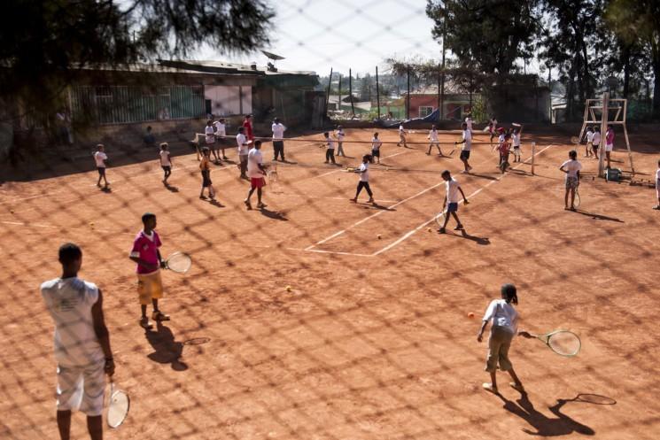 Aethiopien, Afrika, Sport, Tennis, Kinder, Jugendliche,