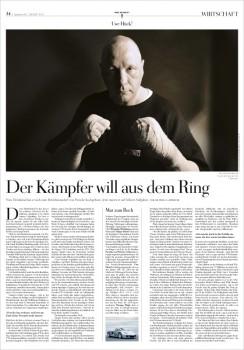 Der Kämpfer will aus dem Ring