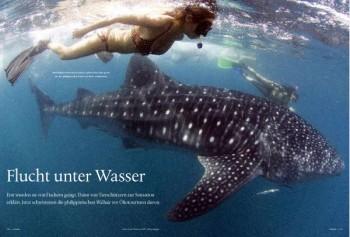 Flucht unter Wasser