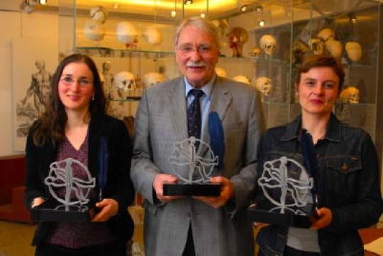 Die Preisträger Susanne Donner, Erdmann Wingert, Ursula Stamm (v.l.n.r)