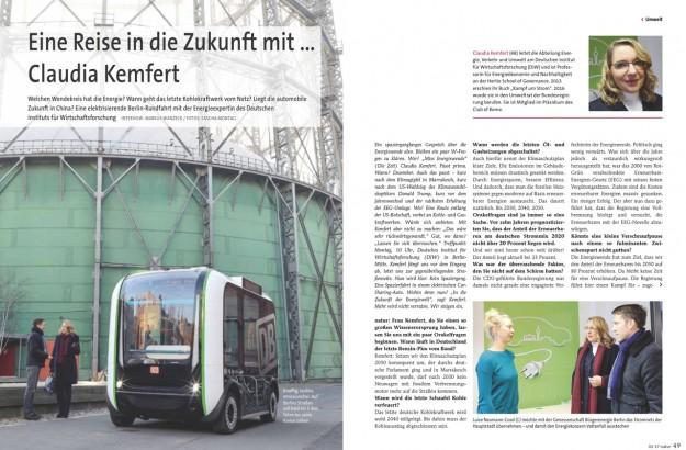 Eine Reise in die Zukunft mit ... Claudia Kemfert